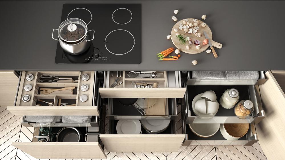 キッチンの収納力を増やすために低コストでできる技